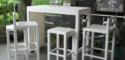 Omnia Outdoor Rattan Bar set