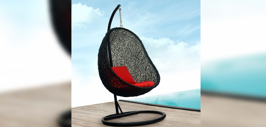 Swing Egg Outdoor Rattan Furniture with Cushion