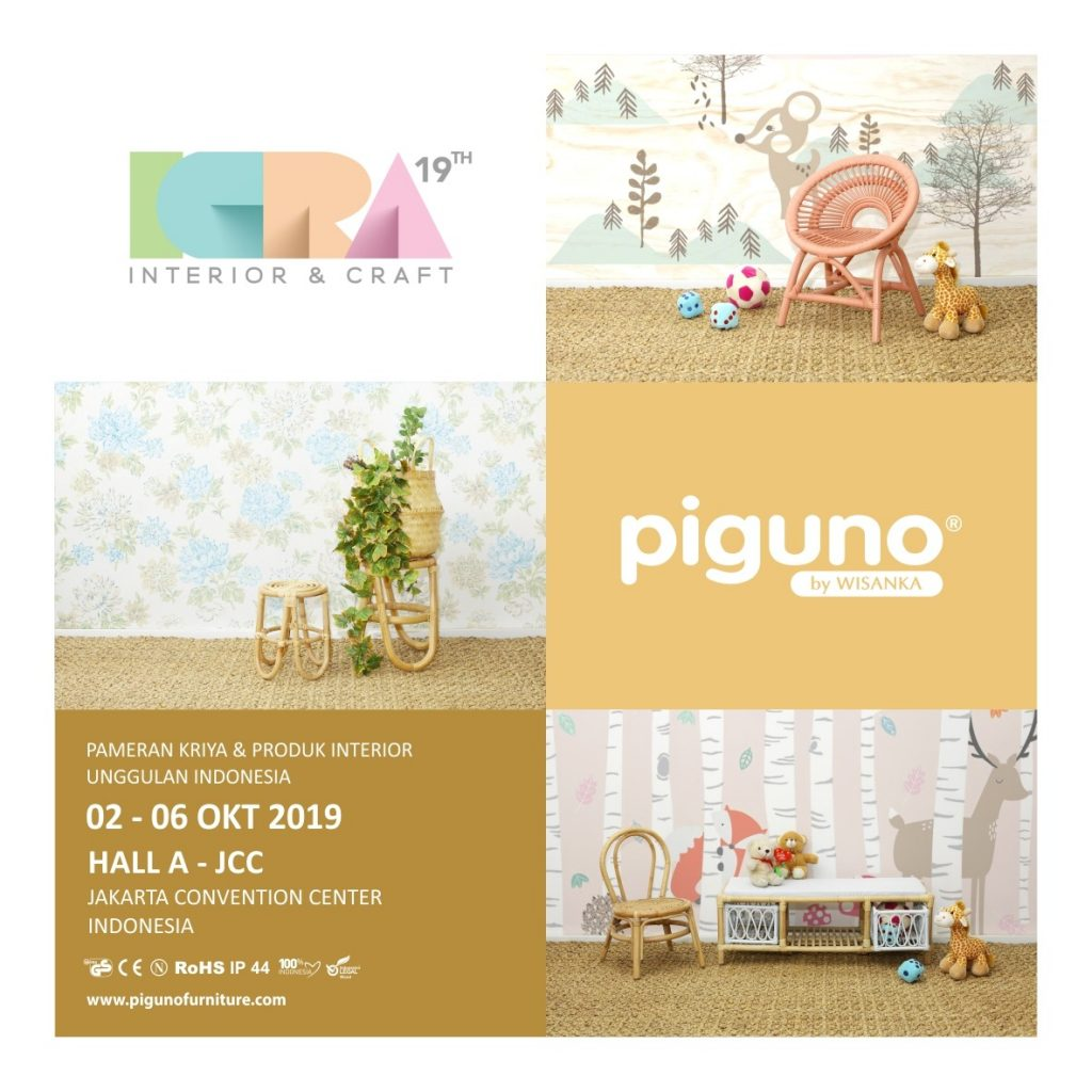 ICRA 2019 | piguno | WISANKA | furniture |exhibition | rattan craft