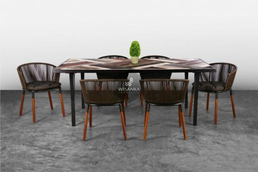 Amurti Dining Set Synthetic Rattan Furniture | Amurti Dining Set Rattan furniture | Rattan Dining Set | Synthetic Rattan Dining Set