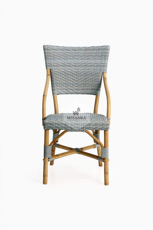 Sidney Dining Bistro Chair-front |Sidney bistro chair | Sidney rattan chair | Sidney rattan dining chair | Sidney rattan bistro chair | Sidney dining arm chair