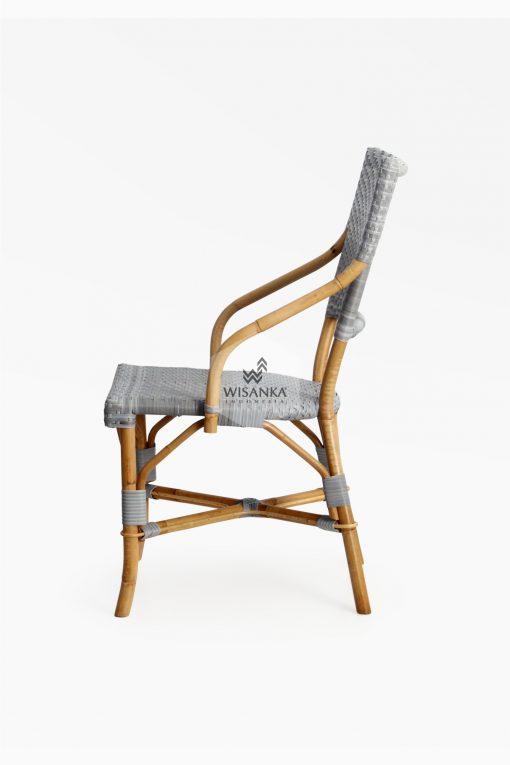 Sidney Dining Bistro Chair-side |Sidney bistro chair | Sidney rattan chair | Sidney rattan dining chair | Sidney rattan bistro chair | Sidney dining arm chair