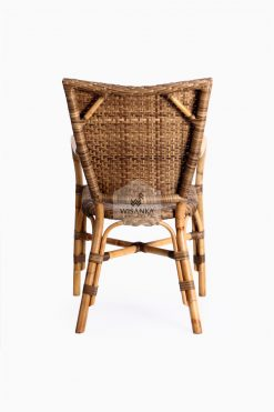 Lorraine Dining Bistro Chair-back | bistro chair | rattan chair | rattan dining chair | rattan bistro chair | dining arm chair