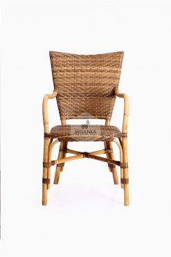 Lorraine Dining Bistro Chair-front | bistro chair | rattan chair | rattan dining chair | rattan bistro chair | dining arm chair
