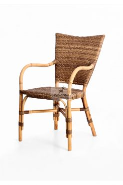 Lorraine Dining Bistro Chair-perspective | bistro chair | rattan chair | rattan dining chair | rattan bistro chair | dining arm chair