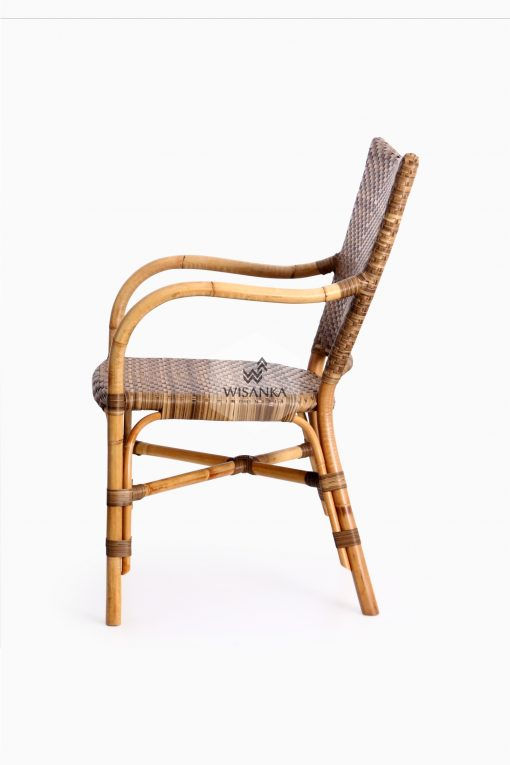 Lorraine Dining Bistro Chair-side| bistro chair | rattan chair | rattan dining chair | rattan bistro chair | dining arm chair