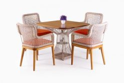 Synthetic Rattan Cirebon Fatana Dining Set | Fatana Rattan DIning Set | Fatana Rope Dining Set | Rope Dining Set