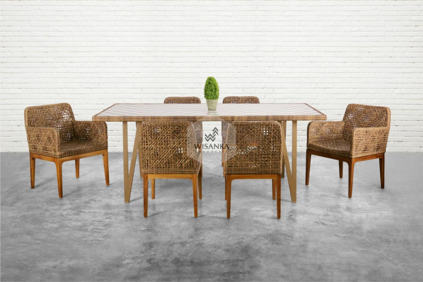 Dior Synthetic Rattan Dining Set