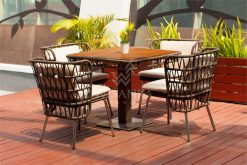 Zamira Dining Set | Zamira Rope Dining Set | Zamira Outdoor Dining Set | Zamira Outdoor Furniture Dining