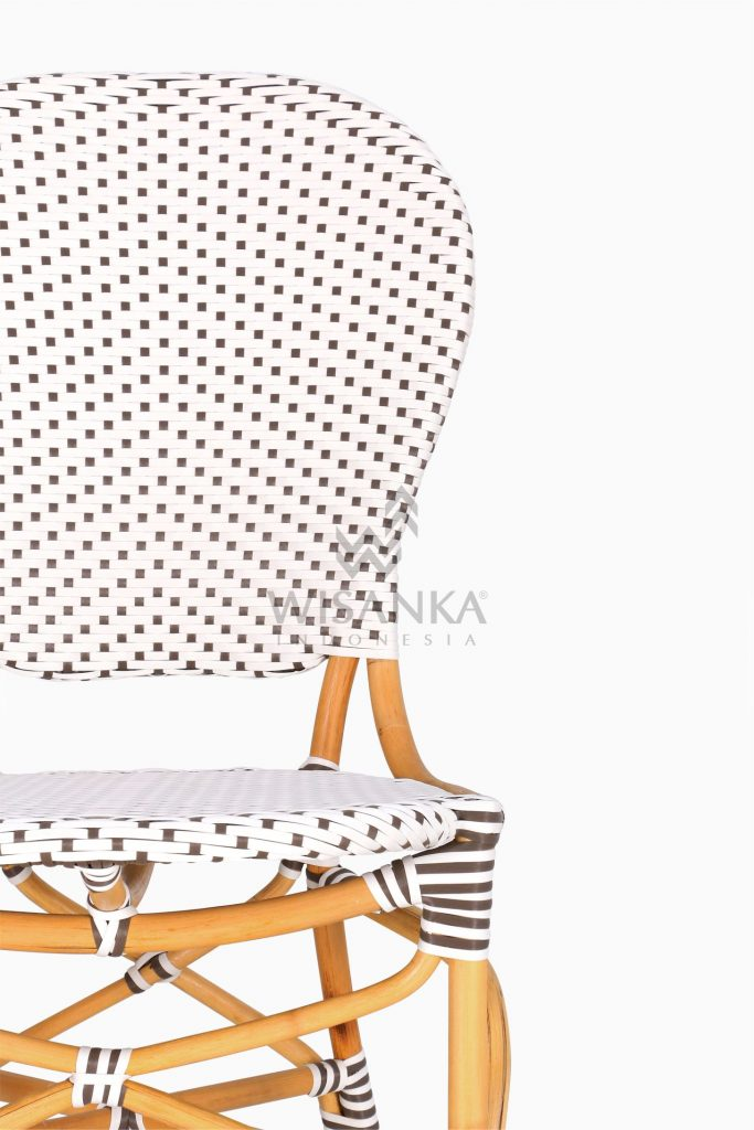 Ally Outdoor Wicker Bistro Chair detailed