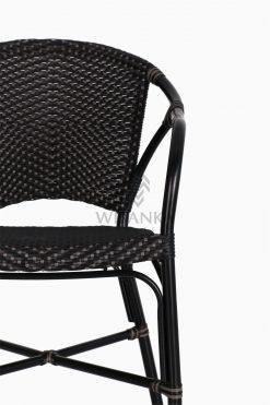 Edward Dining Arm Rattan Bistro Chair detail