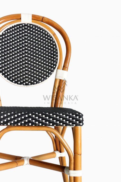 Iry Dining Arm Wicker Bistro Chair detail