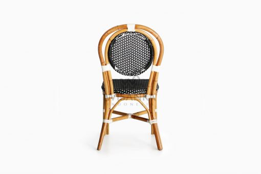 Iry Dining Arm Wicker Bistro Chair rear