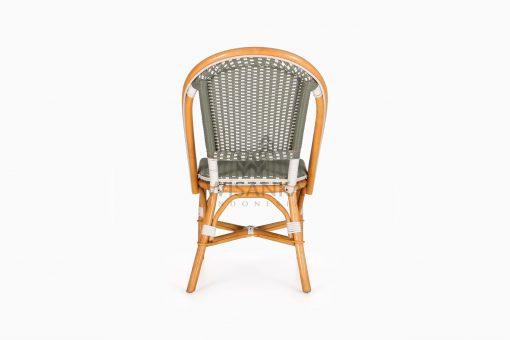Josh wicker dining Bistro Chair rear