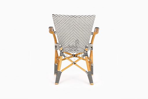 Lucky Bistro wicker rattan Chair rear