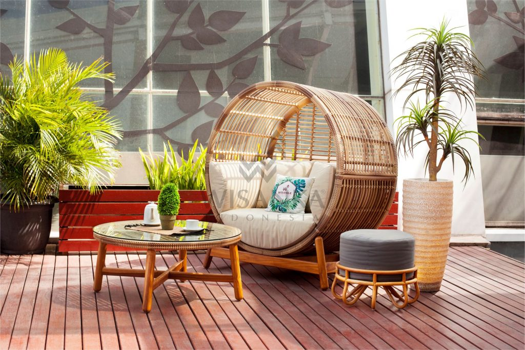 Orza Outdoor Rattan Daybed Set | Orza Rattan Garden Daybed | Orza Synthetic Rattan Daybed