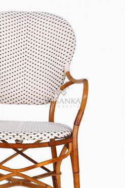 Tira Wicker White Bistro Chair detail