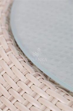 Carmo Wicker Coffee Table Detail