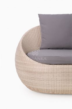 Carmo Wicker Occasional Chair 2 Seater Detail 1