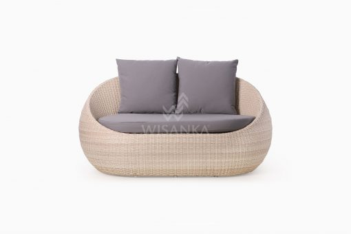 Carmo Wicker Occasional Chair 2 Seater front