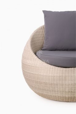 Carmo wicker occasional chair 1 Seater Detail 1