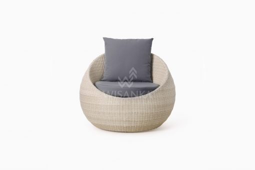 Carmo wicker occasional chair 1 Seater front