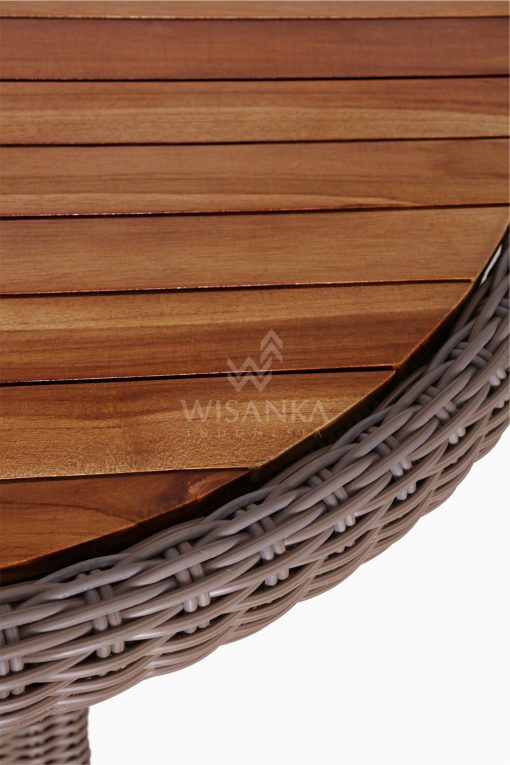 Flora Outdoor Wicker Dining Table detail