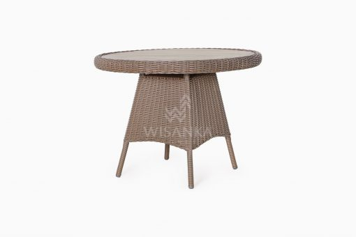 Flora Outdoor Wicker Dining Table perspective