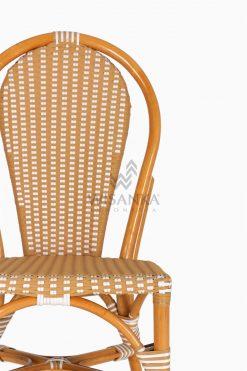 Vony Rattan Wicker Bistro Chair detail