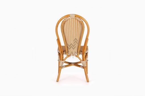 Vony Rattan Wicker Bistro Chair rear