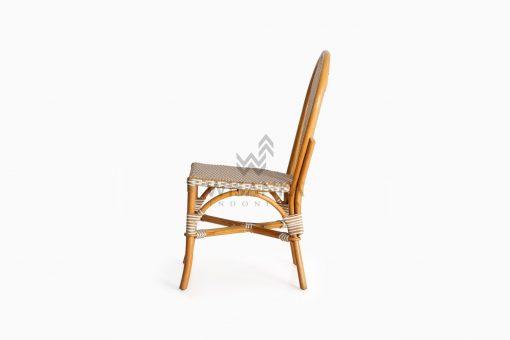 Vony Rattan Wicker Bistro Chair side