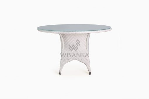 Frey Round outdoor wicker Dining Table front