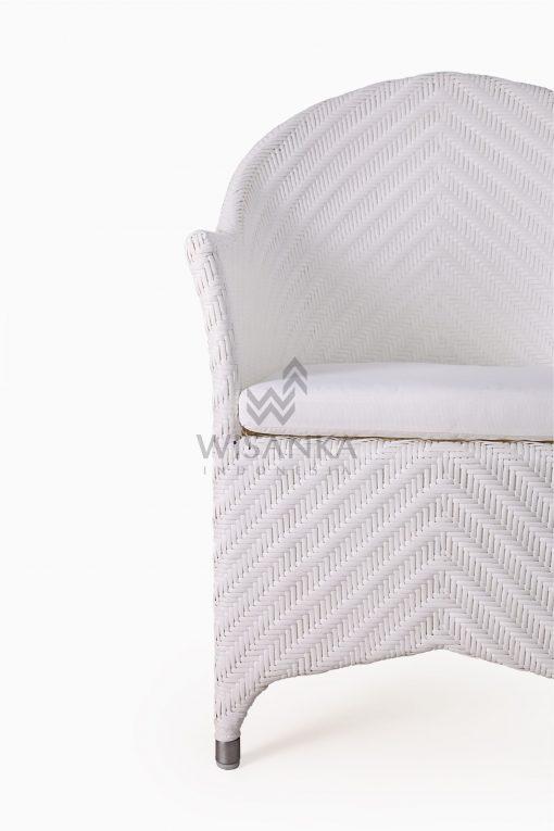 Frey Wicker Outdoor Rattan Arm Chair Detail 1