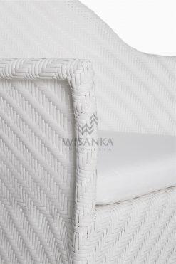 Frey Wicker Outdoor Rattan Arm Chair Detail 2