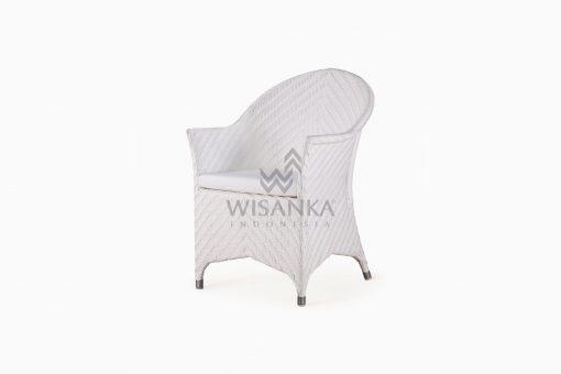Frey Wicker Outdoor Rattan Arm Chair perspective