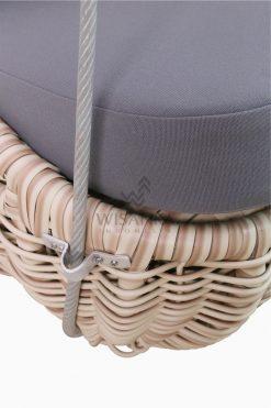 Huvan Wicker Swing Chair Detail 2