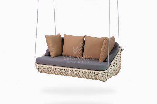 Huvan Wicker Swing Chair perspective