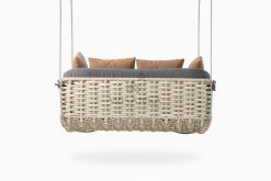 Huvan Wicker Swing Chair rear