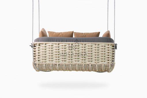 Huvan Wicker Swing Chair rear