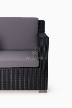 Maldive Outdoor Wicker Arm Chair 1 Seater Detail 1