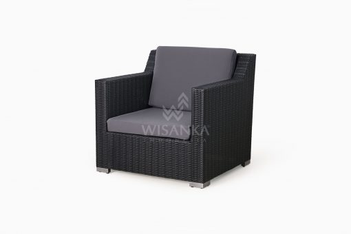 Maldive Outdoor Wicker Arm Chair 1 Seater perspective