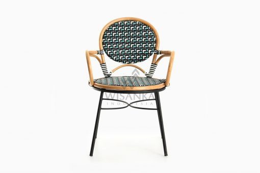 Aira Bistro Chair, Wicker Rattan Chair front
