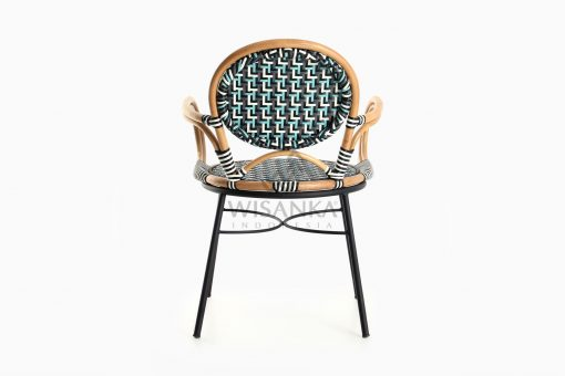Aira Bistro Chair, Wicker Rattan Chair rear