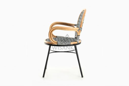 Aira Bistro Chair, Wicker Rattan Chair side