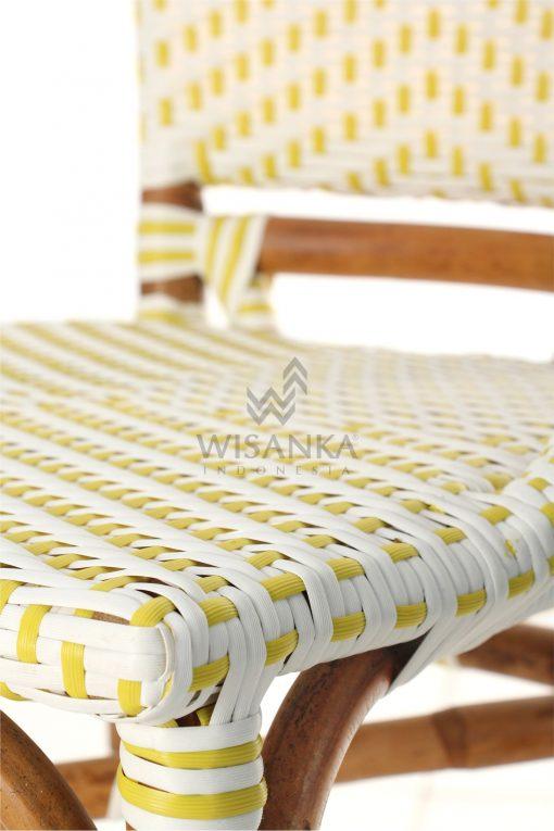Elle Bistro Chair - Wicker Dining Chair Detail 2