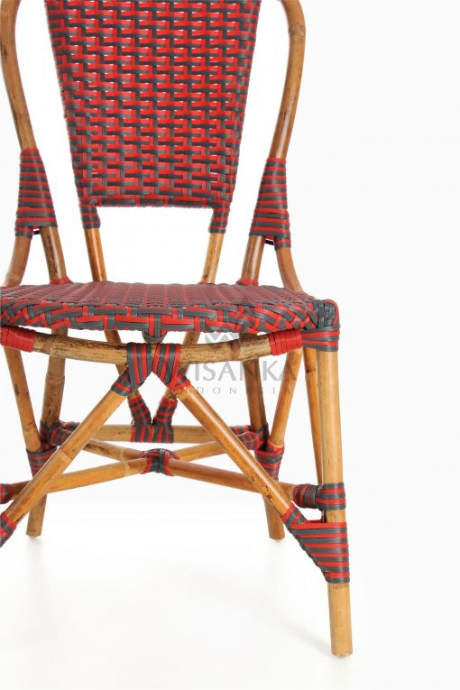 Clady Rattan Dining Bistro Chair Detail 1