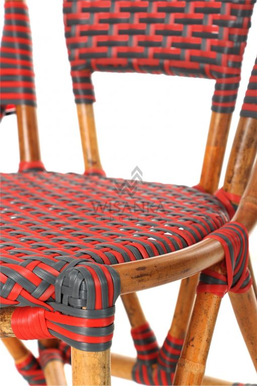 Clady Rattan Dining Bistro Chair Detail 2