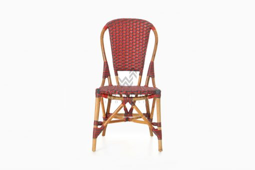 Clady Rattan Dining Bistro Chair front