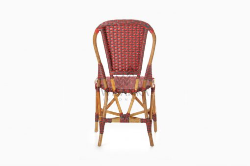 Clady Rattan Dining Bistro Chair rear