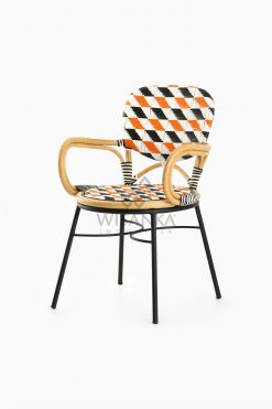 Kiku Rattan Outdoor Bistro Chair perspective
